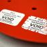 What is the destructive label?