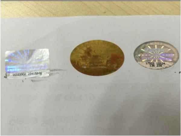 Scratch off hologram label